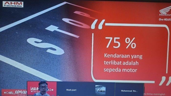 Patuhi PPKM, Astra Motor Kaltim 1 Gelar Edukasi Safety Riding Virtual Bersama Siswa SMP Kartika