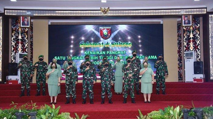 Pangdam Pimpin Acara Laporan Korps Kenaikan Pangkat Perwira Kodam VI Mulawarman