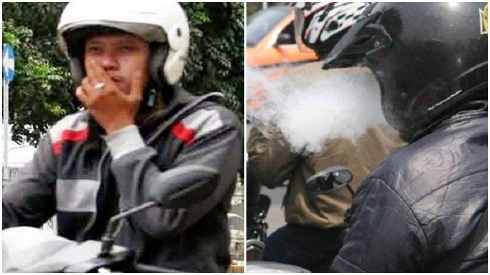AWAS! Denda Rp 750.000 jika Nekat Berkendara Motor Sambil Merokok, Bercanda pun Bisa Dipidana