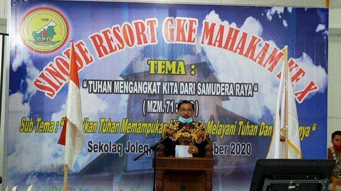 Ajak Gereja Sukseskan Program Pemerintah, Sekda Kutai Barat Buka Mubes Sinode Resort X GKE 2020