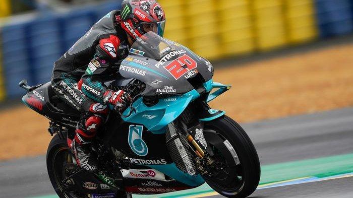 MOTOGP 2021 - Pembalap Yamaha Fabio Quartarar. Simak hasil kualifikasi MotoGP Portugal 2021 hari ini, kabar Quartararo yang jadi Pole Position, hingga nasib Valentino Rossi dan Marc Marquez