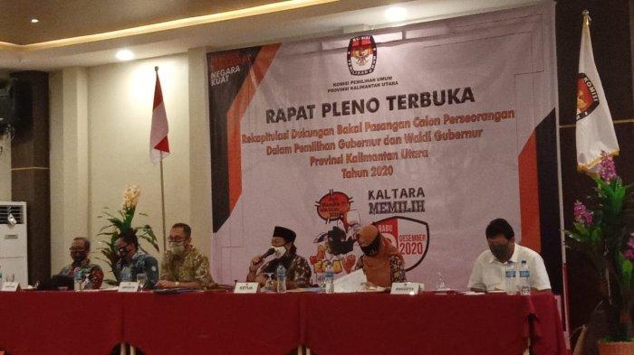 Rekap Hasil Verifikasi Faktual, Balon Gubernur Kaltara Abdul Hafid Achmad - Makinun Amin Tidak Hadir