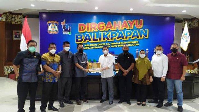 Koordinasi Alokasi Belanja Bantuan Keuangan Provinsi, Banggar DPRD Kaltim Kunjungi Pemkot Balikpapan