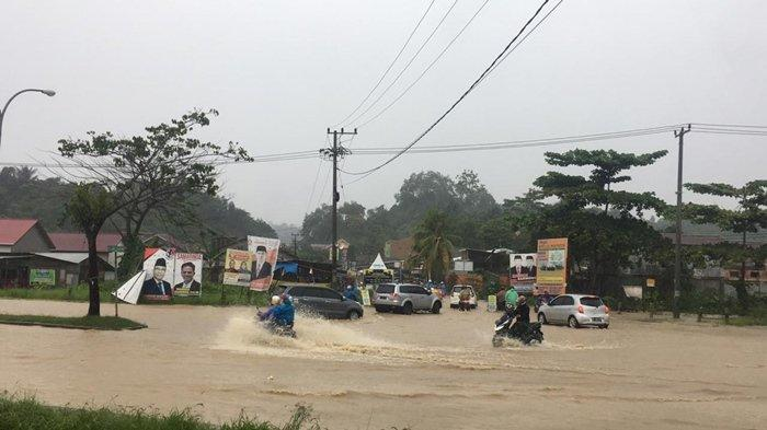 Banjir di Samarinda, Titik Banjir Terpantau di Jalan Sejati, Kecamatan Sambutan