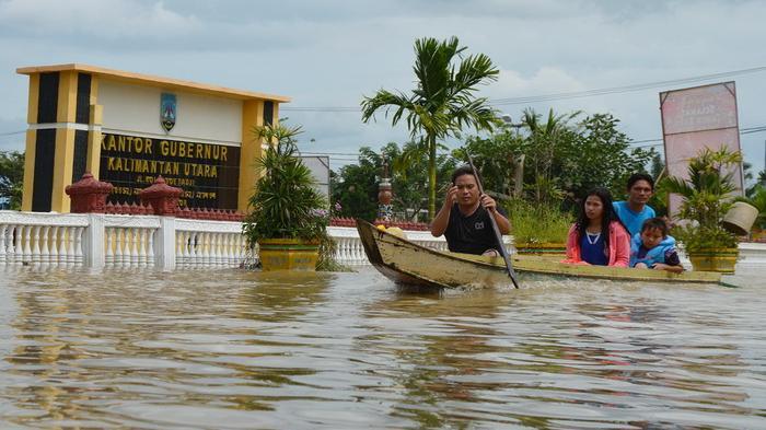Banjir Lumpuhkan Ibukota Kalimantan Utara