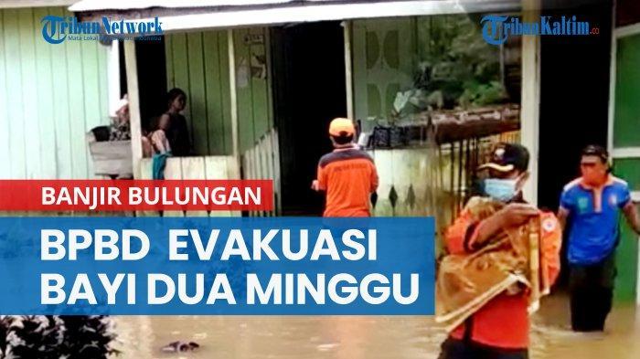 Banjir Rendam 4 Desa di Tanjung Palas Timur, BPBD Bulungan Evakuasi Bayi Dua Minggu