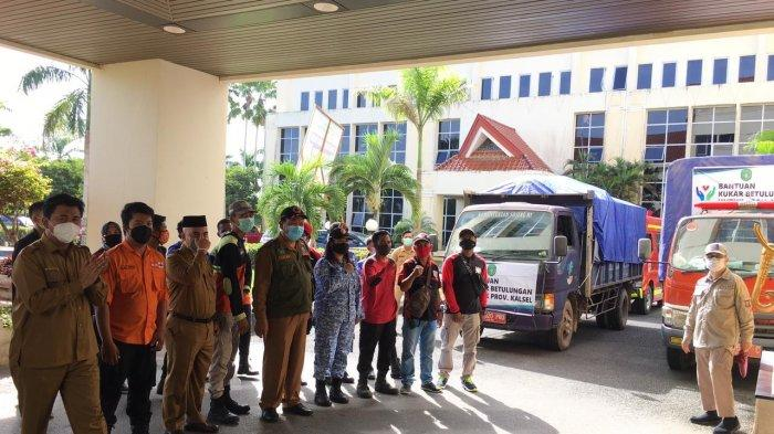 Bantuan Sembako Sampai di Kabupaten Banjar dan Diserahkan Wabup Kukar