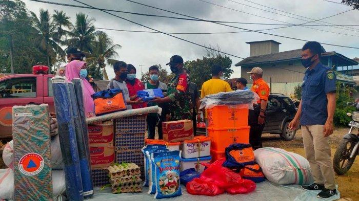 BPBD PPU Serahkan Bantuan untuk Korban Kebakaran di Kelurahan Gersik Kecamatan Penajam