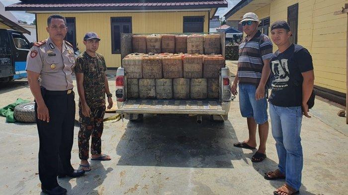 Selundupkan BBM Jenis Solar, Polsek Talisayan Kabupaten Berau Ciduk Warga Sangatta