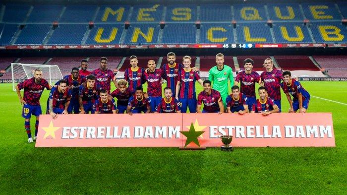 Debut Pjanic Berjalan Mulus, Barcelona Menang Tipis, Lionel Messi Cs Angkat Joan Gamper Trophy