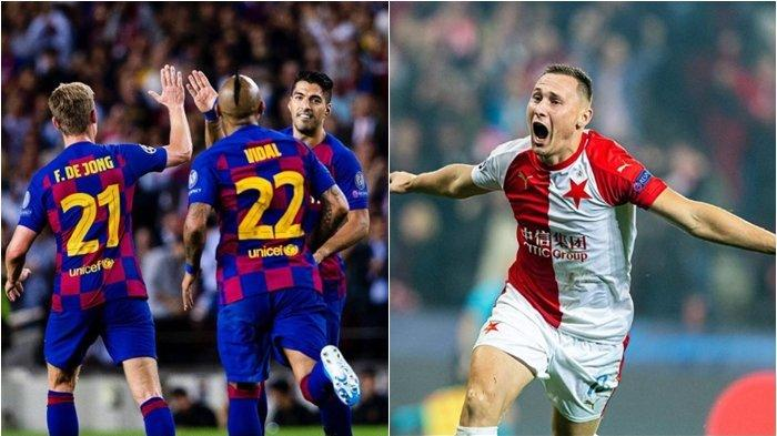 Jadwal & Link Live Streaming TV Online Liga Champions, Barcelona vs Slavia Praha SCTV dan Vidio.com