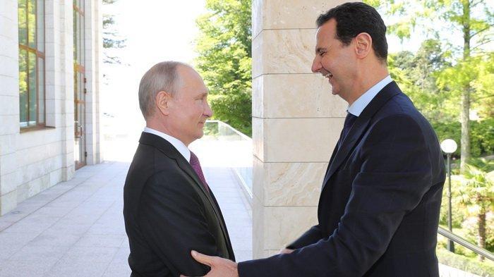 Terekam Kamera, Putin dan Assad Tertawa Saat Membicarakan Trump, Apa yang Dibahas?