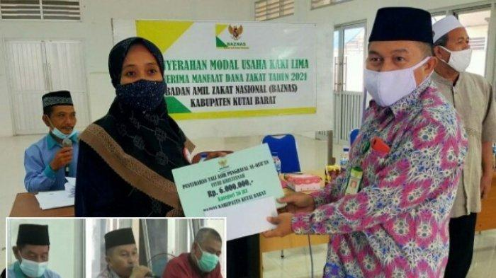 Baznas Kutai Barat Bantu PKL dan Penghafal Alquran, Beri Modal Usaha dan Tali Asih