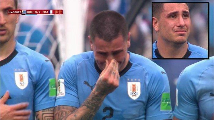 Belum Berakhir Pertandingan Uruguay vs Perancis, Jose Gimenez Menangis saat Jadi Pagar Betis