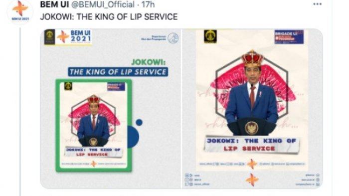 BEM UI Trending, Nobatkan Jokowi sebagai The King of Lip Service, Ade Armando Beri Komentar