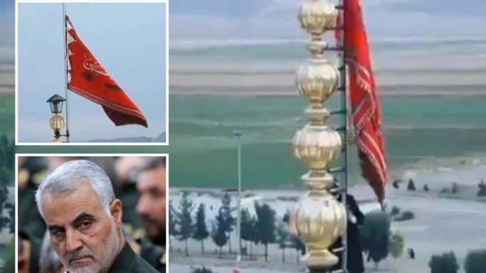 Bendera Merah Iran Berkibar setelah Jenderalnya Dibunuh, Ini Artinya, Tanda Perang dengan Amerika?