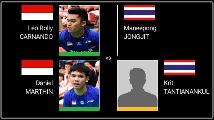 BERLANGSUNG Link Live Streaming TV Online Thailand Masters 2020 Debut Leo/Daniel vs Tuan Rumah