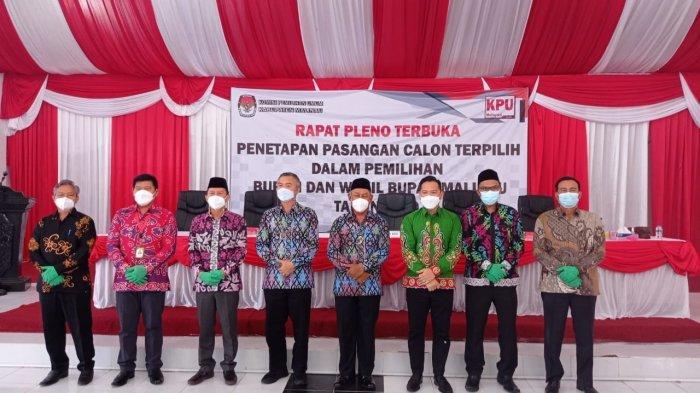 KPU Malinau Tetapkan Pasangan Wempi-Jakaria Menjadi Bupati dan Wakil Bupati Terpilih