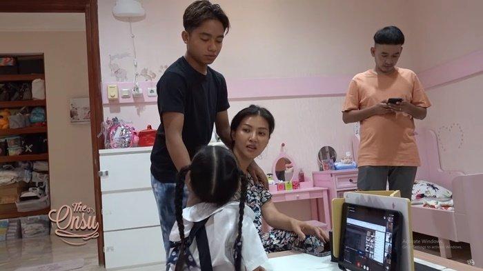Betrand Peto dan Thalia Rebutan Sarwendah Saat Sekolah Online, Ruben Onsu Langsung Bertindak