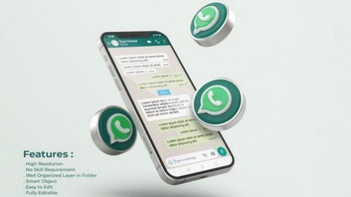 Ilustrasi aplikasi WhatsApp.