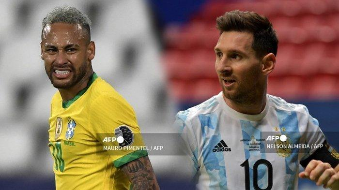 SERU! TONTON Live Streaming Copa America 2021 Hari Ini, Klik Brazil vs Argentina Live Streaming Link