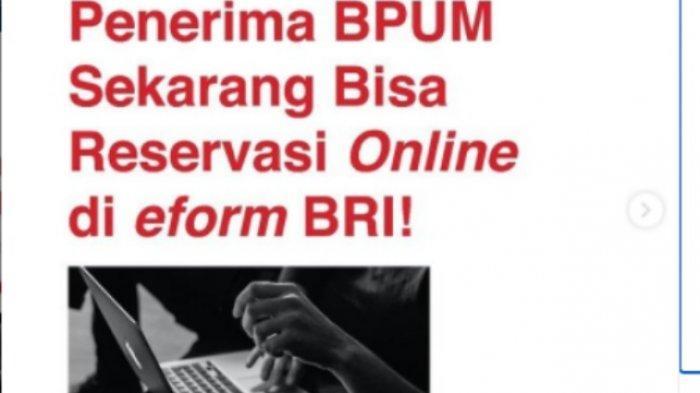 BLT UMKM Sudah Cair, Cara Reservasi Online di eform BRI untuk Pilih Lokasi dan Dapat Nomor Antrean