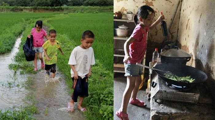 Luar Biasa, Masih Belia tapi Gadis Cilik Ini Sudah Jadi Tulang Punggung Keluarga Urus 2 Adiknya