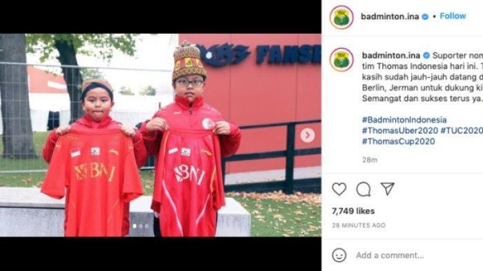 Bocah suporter yang jadi viral di laga Thomas Cup 2020 Indonesia vs China Taipei