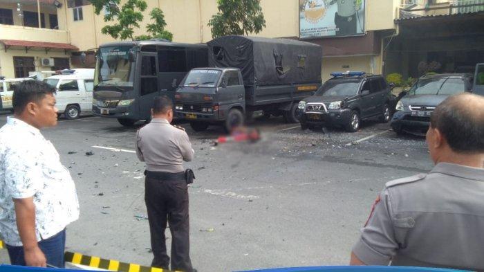 VIDEO Detik-detik Ledakan Diduga Bom Bunuh Diri di Mapolrestabes Medan Warga Sempat Kira Suara Petir