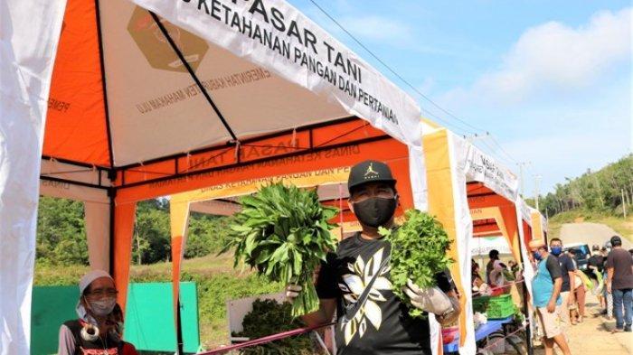 Belanja dan Berdialog dengan Penjual, Bupati Bonifasius Apresiasi Pasar Tani Mahulu
