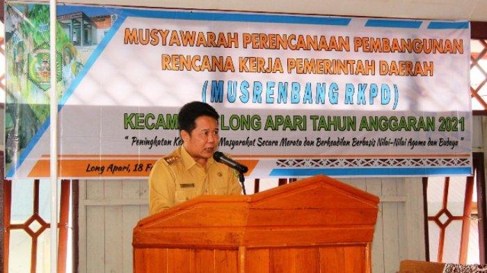 Jadi Rujukan Bappelitbangda, Bupati Mahulu Buka Musrenbang RKPD Kecamatan Long Apari