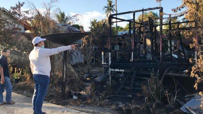 Dinsos Mahulu Beri Bantuan Tahap Pertama Korban Kebakaran di Kampung Mamahak Besar