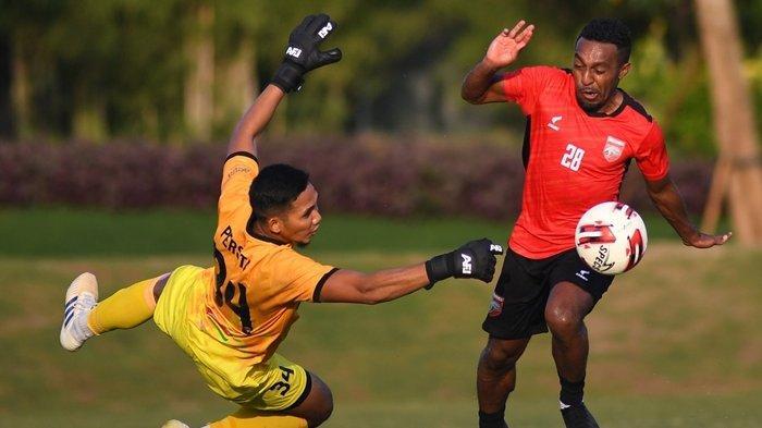 Jelang Liga 1 2021, Gol Telat Guy Junior Selamatkan Borneo FC dari Kekalahan atas Persita Tangerang