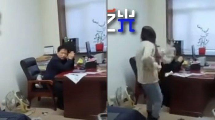 Pukul Kepala Pejabat Pemerintahan Pakai Kain Pel, Wanita Ini Malah Banjir Pujian, Si Bos Dipecat