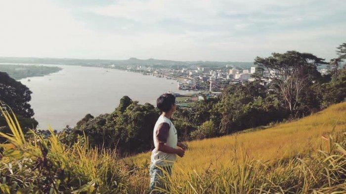 Bukit selili Samarinda, yang dilirik untuk dibangun arena permainan Bianglala dan sarana Kereta Gantung. TRIBUNKALTIM.CO/MUHAMMAD RIDUAN