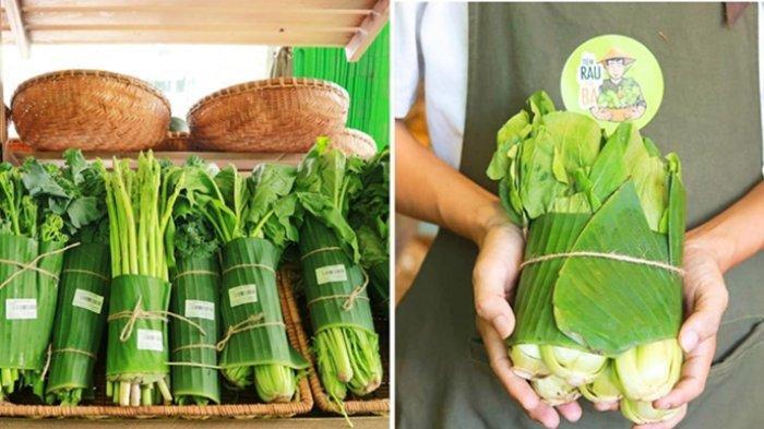 Ramah Lingkungan, Makin Banyak Supermarket yang Beralih dari Kemasan Plastik Kini Pakai Daun Pisang