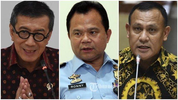 Buntut Kasus Harun Masiku, Yasonna Laoly Dilapor ke KPK lalu Copot Ronny Sompie, Sikap Firli Bahuri?