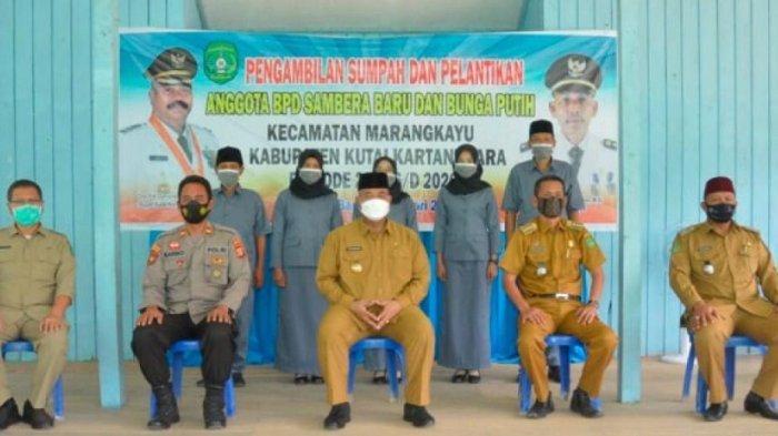 Lantik Anggota BPD Sambera Baru Kecamatan Marangkayu, Ini Pesan Bupati Kukar Edi Damansyah