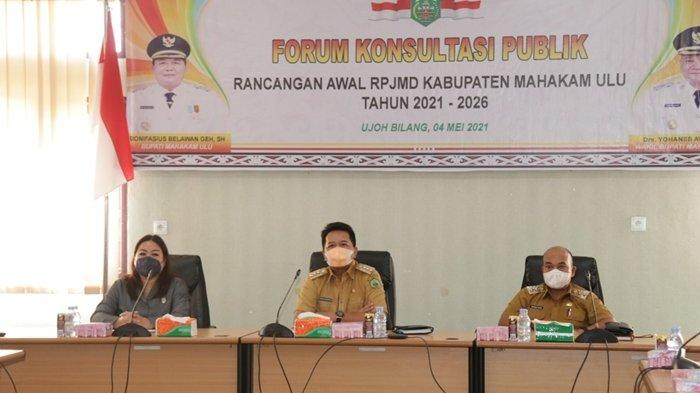 Bupati Bonifasius Belawan Geh Buka Forum Konsultasi Publik RPJMD Mahulu