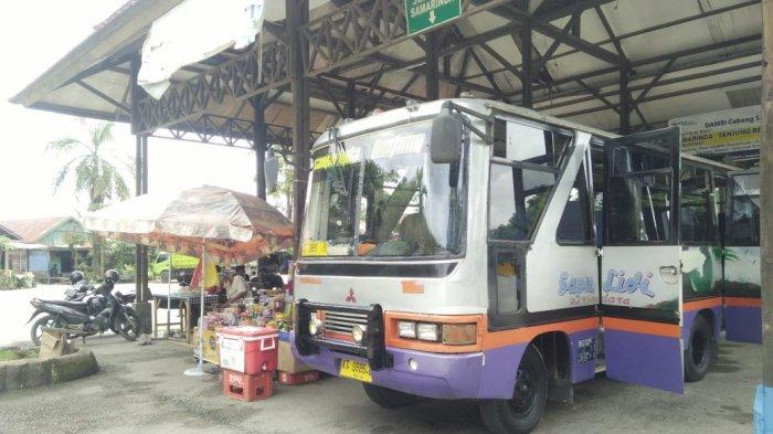 Aktivitas di Terminal di Bontang, tetap beroperasi saat larangan mudik Lebaran.TRIBUNKALTIM.CO, ISMAIL USMAN