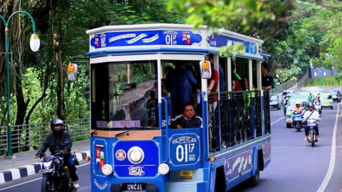 Wow, Tersedia Bus Pariwisata Gratis Loh di Bogor. Desainnya Unik Menarik