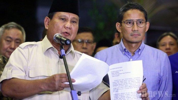Kronologi Permohonan Kembali Sengketa Pilpres 2019 Kubu Prabowo-Sandiaga, Ini Penjelasan Kuasa Hukum