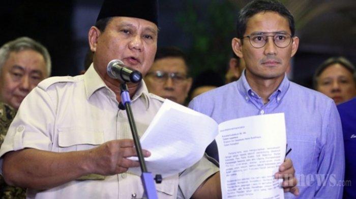 Kasasi di MA Ternyata Tanpa Sepengetahuan Prabowo-Sandi, WaketumGerindra Sudah Tahu Pelakunya