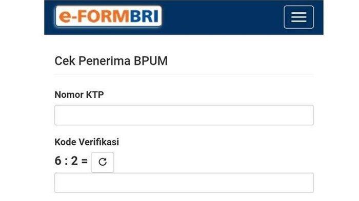 Capturw eform BRI. Segera login https://banpresbpum.id cara cek online Nama penerima Banpres UMKM Mekar BNI 2021 pakai NIK KTP.
