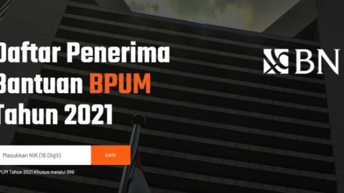 Cara Cek BLT UMKM 2021 melalui Link banpresbpum.id dan eform.bri.co.id/bpum, Kategori Penerima BPUM