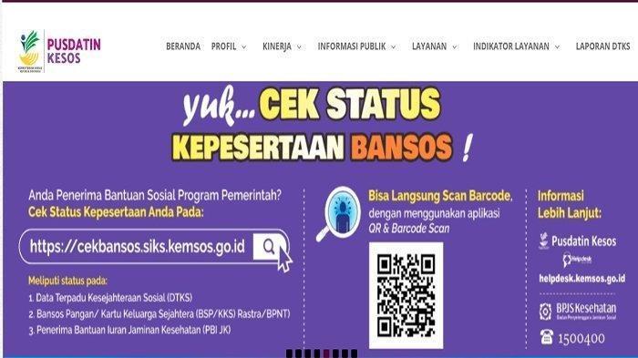 Cara Cek Dapat Bantuan Tunai Rp 600 Ribu dan Bansos Lainnya atau Tidak, cekbansos.siks.kemsos.go.id