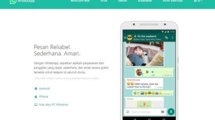 Cara memperbarui aplikasi WhatsApp lewat situs resmi WhatsApp