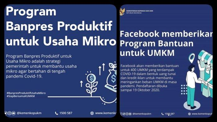 Cara Mengecek Bantuan UMKM, Link Daftar BLT UMKM Rp 2,4 Juta, Besok Terakhir Daftar Bantuan Facebook - Tribun Kaltim