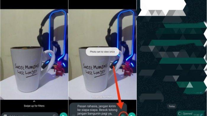 Cara mengirim pesan yang bisa menghilang di WhatsApp.