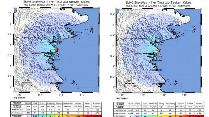 BREAKING NEWS Gempa 4,4 SR Terasa di Tarakan, Sejumlah Warga Merasakan Getarannya